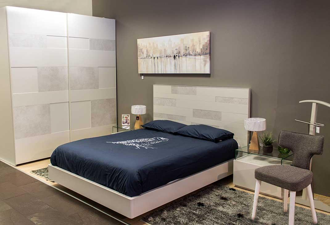 Dormitorio de matrimonio de diseño en madera lacada