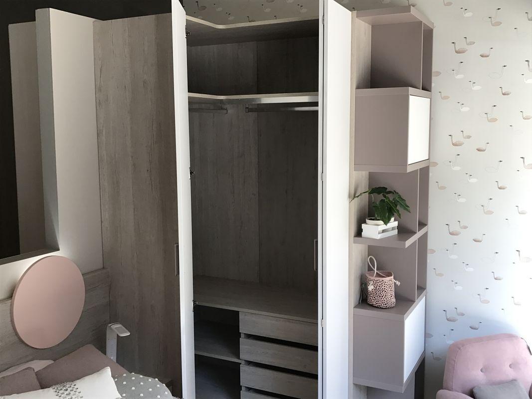 Dormitorio juvenil moderno de dise o alcon mobiliario - Armarios juveniles rinconera ...