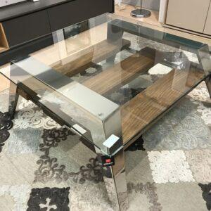 Mesa de centro en madera y cristal