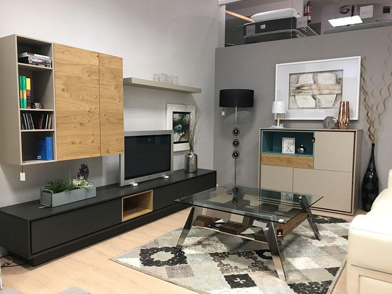 Mesa de centro en madera y cristal tienda de muebles en - Muebles en vitoria gasteiz ...