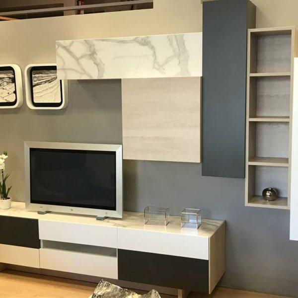 Mueble de salón modular de corte minimalista en Vitoria Gasteiz