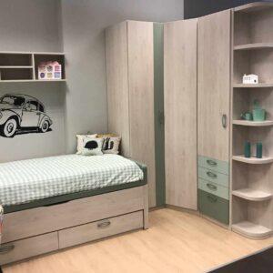 Dormitorio juvenil con cama abatible vertical y sof - Muebles alava ...