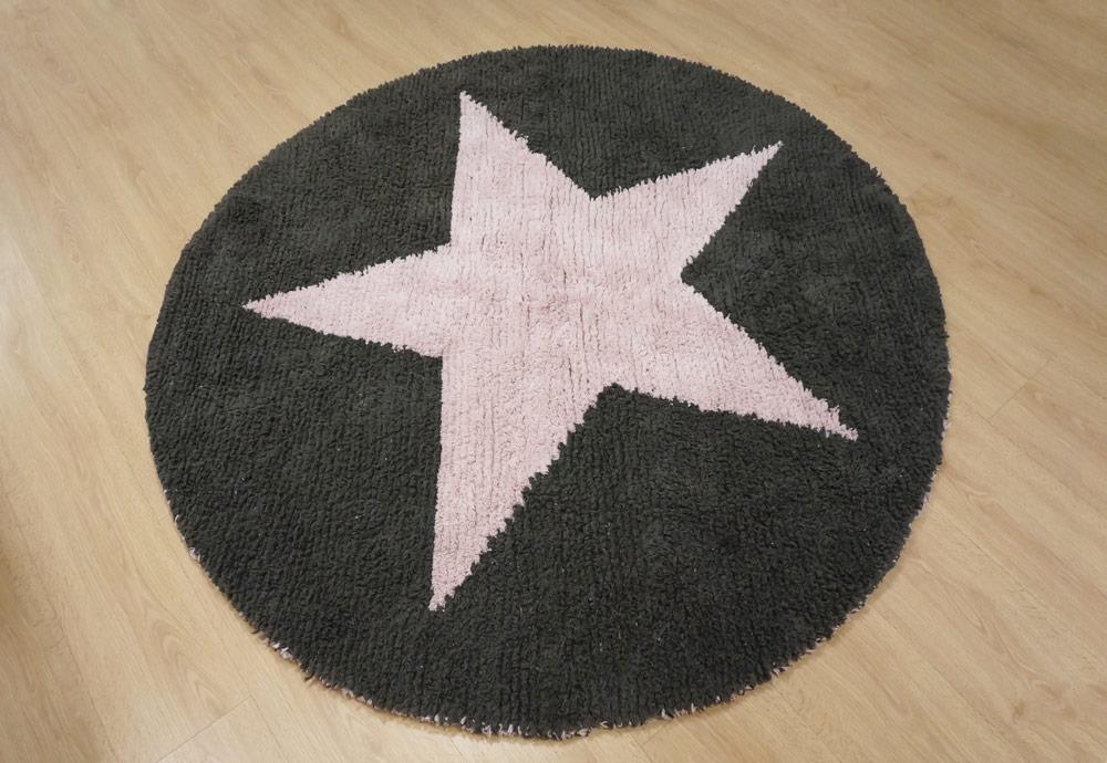 Alfombra lavable reversible de color gris y rosa - Alcon Mobiliario, alfombras en Vitoria-Gasteiz