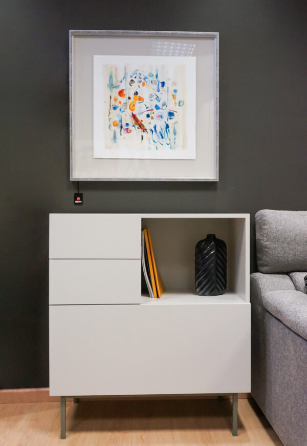 Mueble de entrada de corte minimalista - Alcon Mobiliario